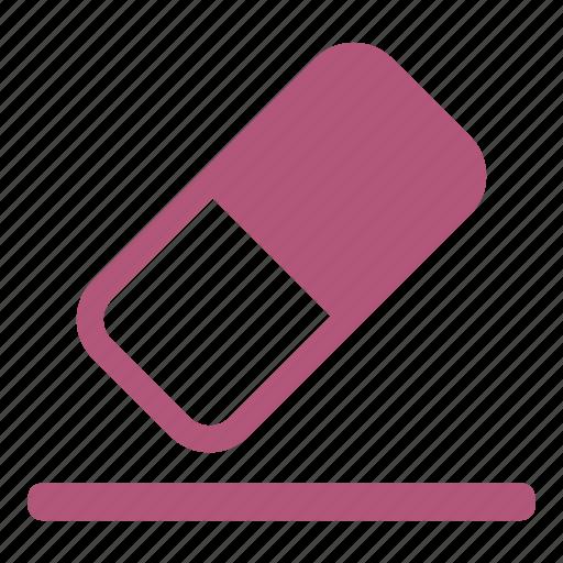 delete, eraser, office material, remove, remover, rubber icon
