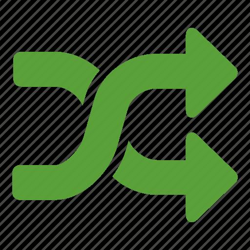 arrows, arrows changing, crossing, random, resume, twist icon