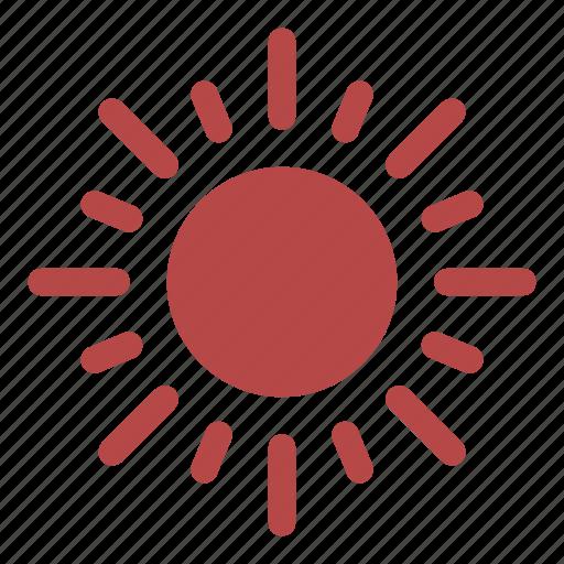 brightness, heat, illumination, in the sky, rays, sun, ultraviolet icon