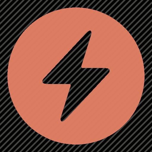 danger, electric, energy, flash, lighting, rain, weather icon