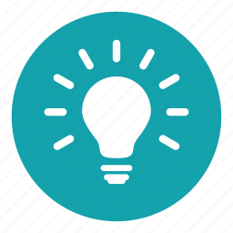 bright, fluorescent, heat, idea, lamp, light bulb, source icon