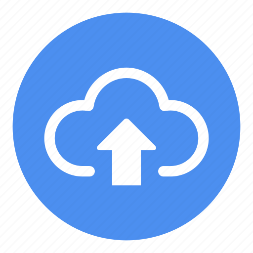 cloud storage, exporting data, storage, up arrow, upload to cloud, using internet icon