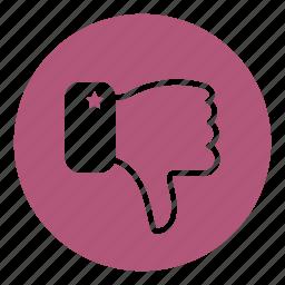 dislike, finger, gestures, hand, hands icon