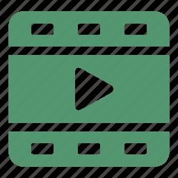 camera, cinema, film, film strip, negative, play, video icon