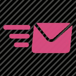 deliver, envelope, message, network, send mail, sending, transmit icon