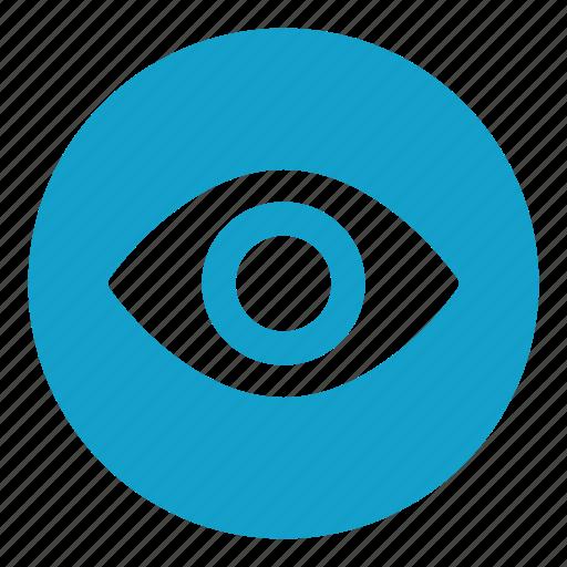 eye, eyebrow, look, optical, organ, view, vision icon