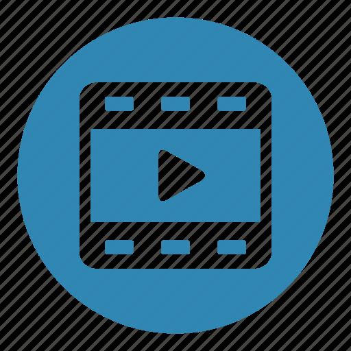 camera, cinema, film, film strip, play, shooting, video icon