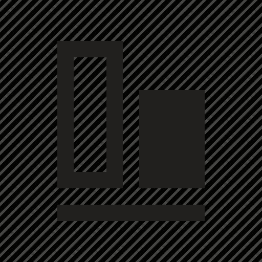 align, axis, baseline, bottom, line icon