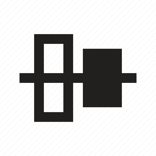 align, axis, horizon, horizontal, line icon