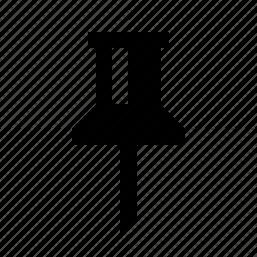 bulletin board, fastener, map, marker, pin, push, tack icon