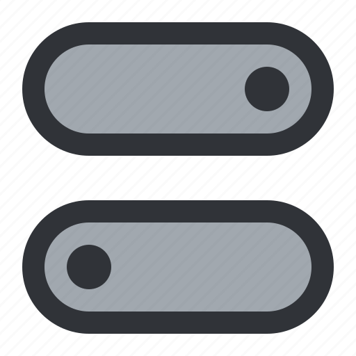 switches, toggles icon