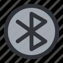 bluetooth, circle, communication icon