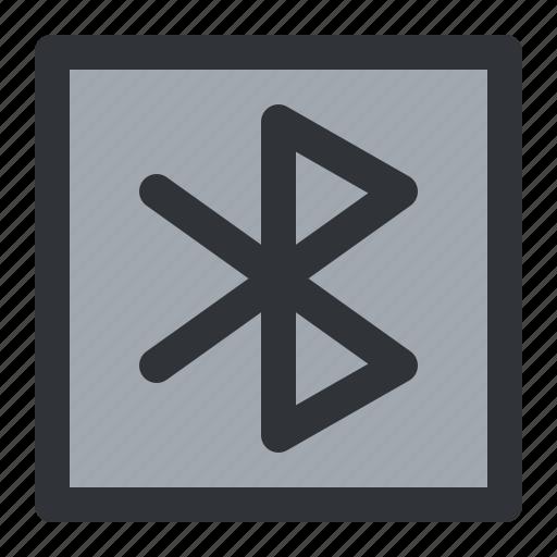 bluetooth, communication, square icon