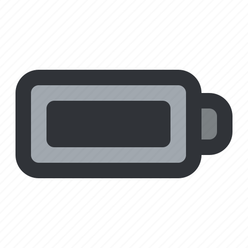 battery, charge, full, level, status icon