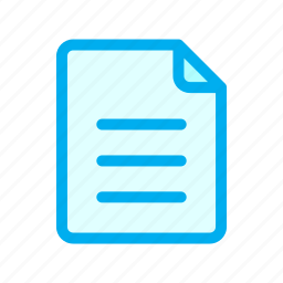 document, file, interface, ui, user icon