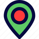 interfaces, location icon