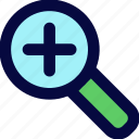 interfaces, plus, search, searching icon