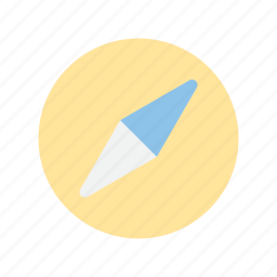 compass, interface, ui, user icon