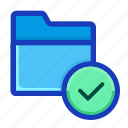 archive, check, confirmed, done, draft, folder, interface icon