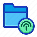 archive, connection, draft, folder, interface, signal, wireless icon