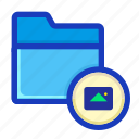 archive, draft, folder, image, interface, multimedia, pictures icon