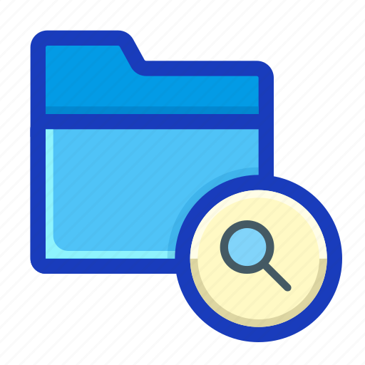archive, draft, find, folder, interface, lookup, search icon