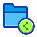 archive, connection, draft, folder, interface, shared, sharing icon