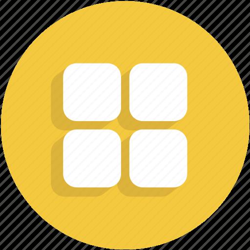 menu, squares, thumbnails, thumbs, ui icon
