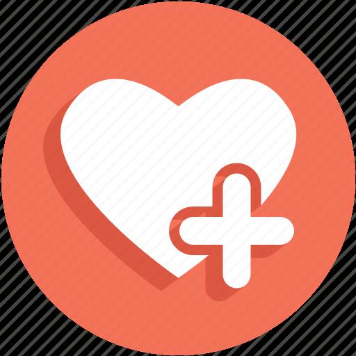 add, heart, like, plus, ui icon