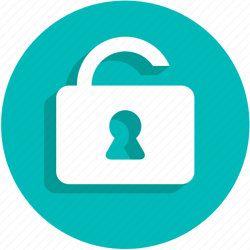 padlock, safe, security, ui, unlock icon
