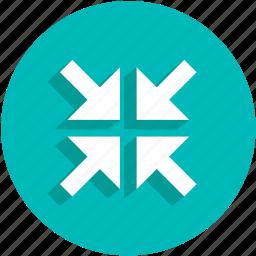 arrows, minimize, resize, ui icon