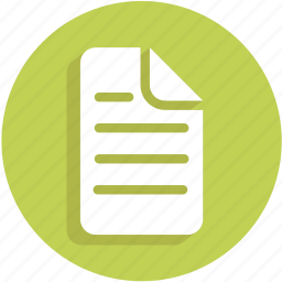document, list, text, ui icon