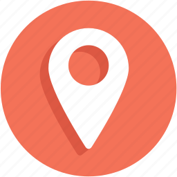 gps, pin, place, ui icon