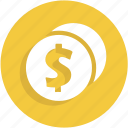 cash, coins, money, payment, ui icon