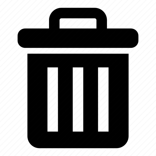 Rubbish bin, garbage can, trash, garbage bin, delete, bin icon