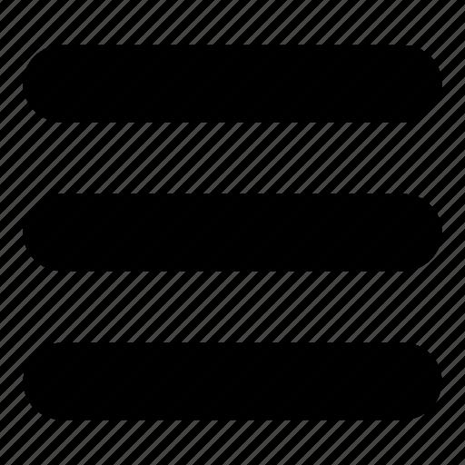 horizontal, interface, list, menu, options, three icon