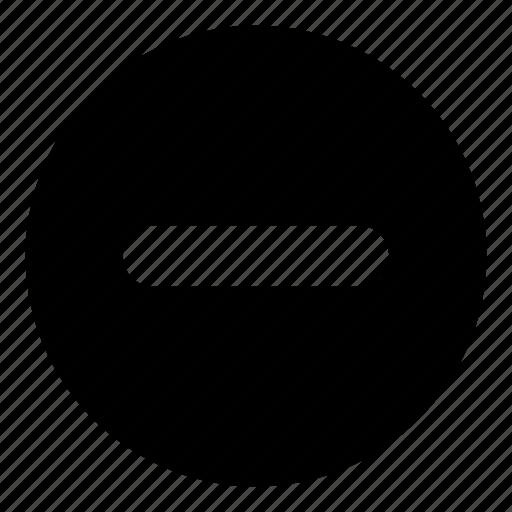 circle, circles, circular, delete, entry, minus, remove icon
