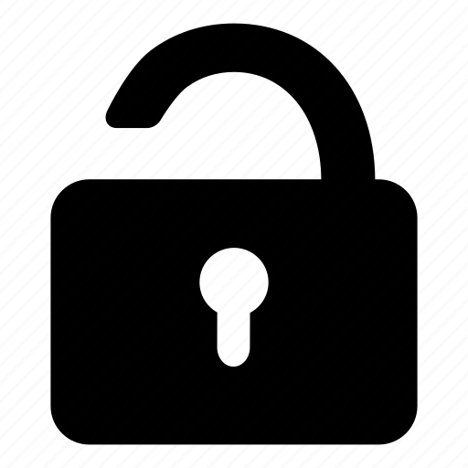 locked, padlock, password, protection, secure, security, unlock icon