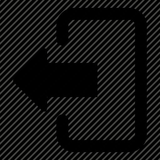 arrow, control, exit, left arrow, log out, multime, web page icon