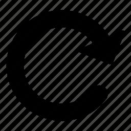 circular arrow, direction, loading, orientation, reload icon