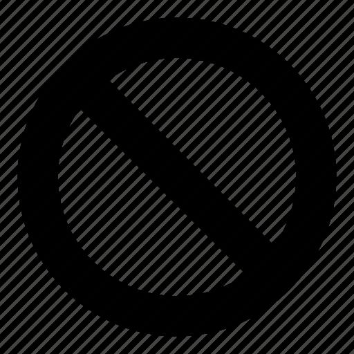 ban, banned, cancel, circle, diagonal, sign icon