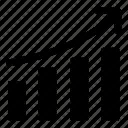 ascendant, ascending, bars, bars chart, chart, graph icon
