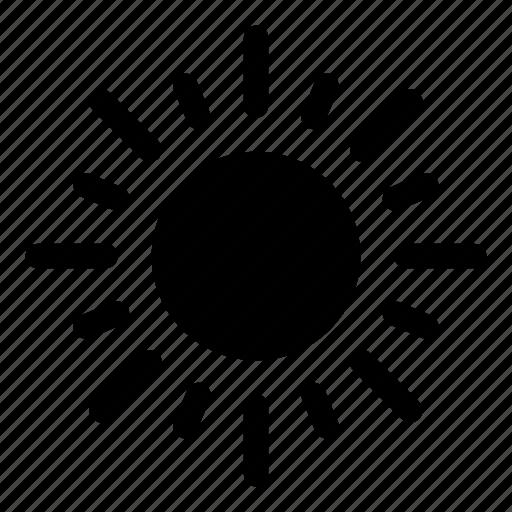 brightness, illumination, light, star, sun, weather icon