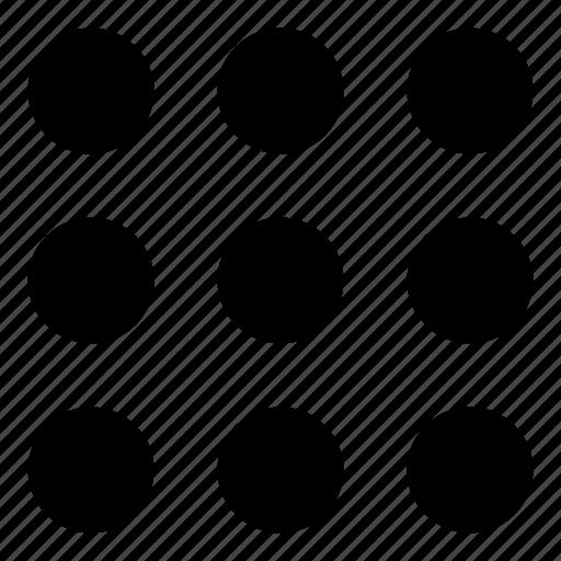 circles, circular, geometrical, menu, options, setup icon