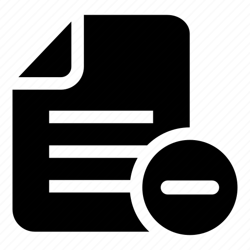 archive, document, file, file minus, interface, minus, subtraction icon