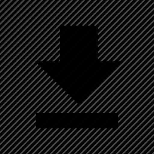 arrow, download, file, load, loading icon