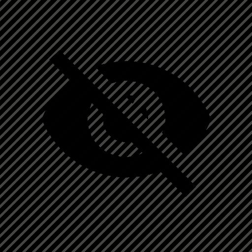 eye, hiden, internet, invisible, status icon