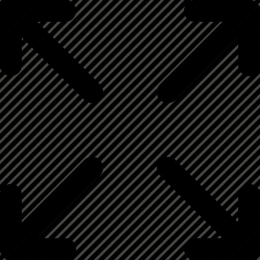 arrow, expand, ui, view icon