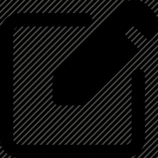 edit, ui, write icon