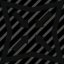 compress, convert, distort, format, reduce, shape, transform, zip icon